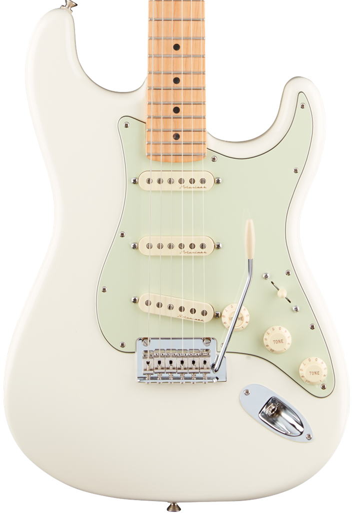 Fender Deluxe Roadhouse Stratocaster, Olympic White, Guitarra Eléctrica