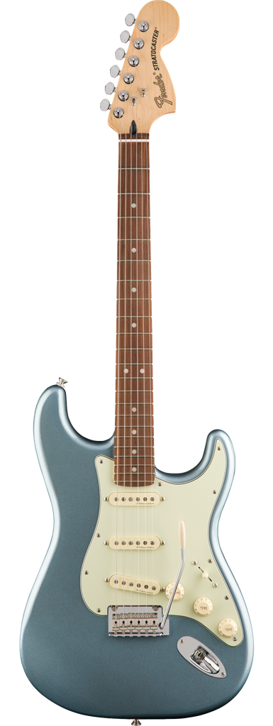 Fender Deluxe Roadhouse Stratocaster, Mystic Ice Blue, Guitarra Eléctrica