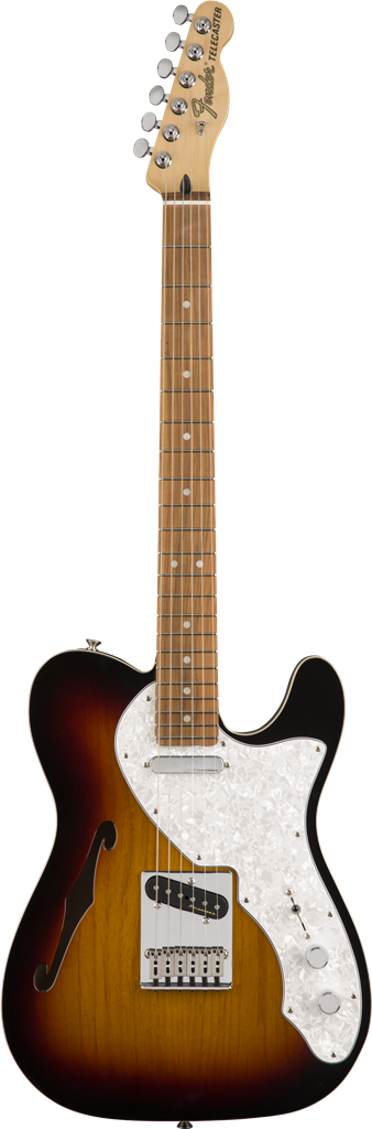 Fender Deluxe Telecaster Thinline, 3-Color Sunburst, Guitarra Eléctrica