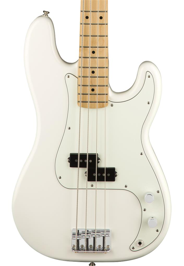 Fender Player Precision Bass, Polar White, Bajo Eléctrico