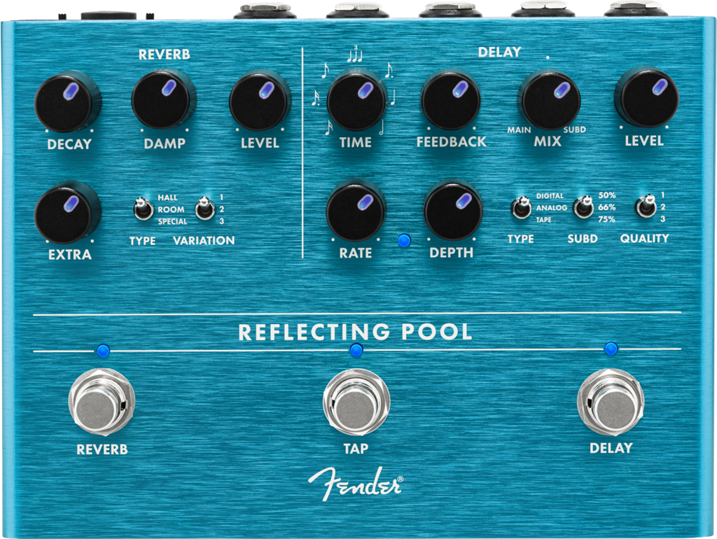 Fender Reflecting Pool Delay/Reverb, Pedal