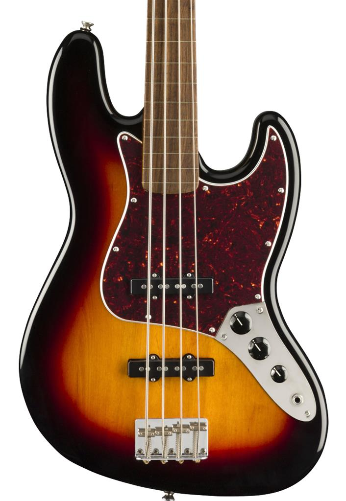 Squier Classic Vibe '60s Jazz Bass Fretless, 3-Color Sunburst, Bajo Eléctrico