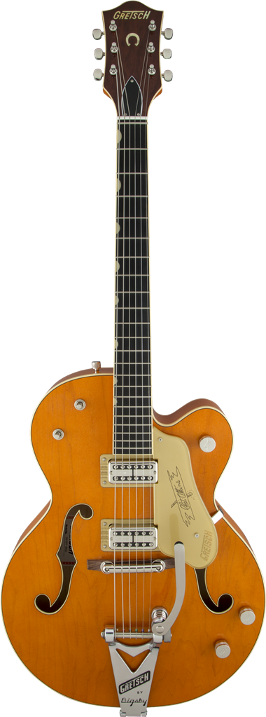 Gretsch G6120T-59 Vintage Sel Ed '59 Chet Atkins Hollow Body, Vintage Orange, Guitarra Eléctrica