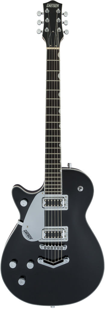Gretsch G5230LH Electromatic Jet FT Single-Cut con V-Stoptail, Negro, Guitarra Eléctrica zurda