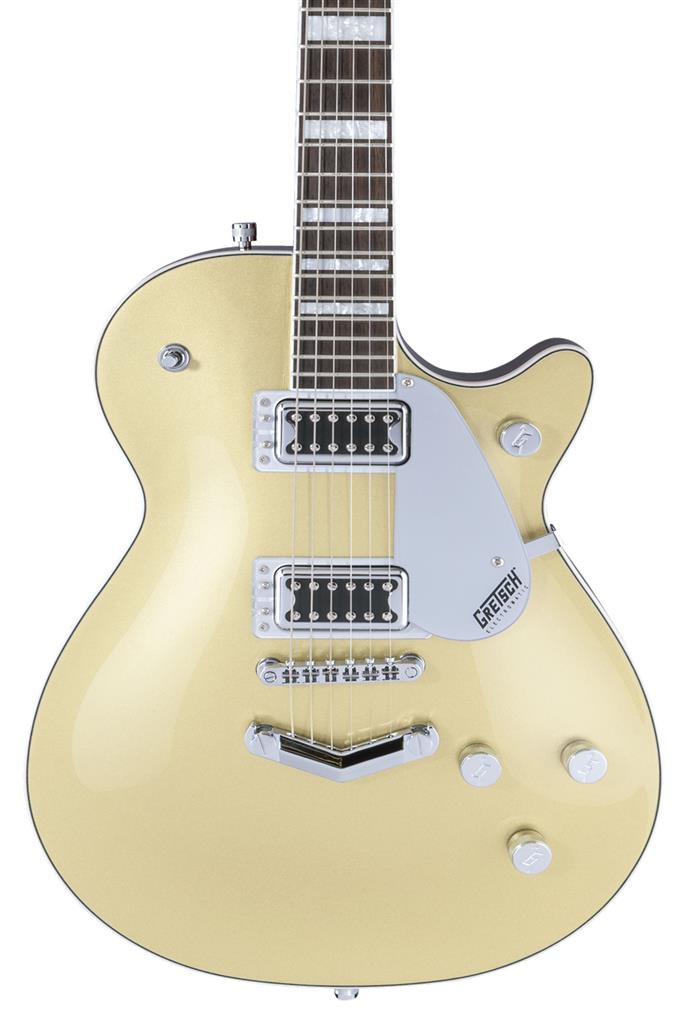 Gretsch G5220 Electromatic Jet BT Single-Cut con V-Stoptail, Casino Gold, Guitarra Eléctrica