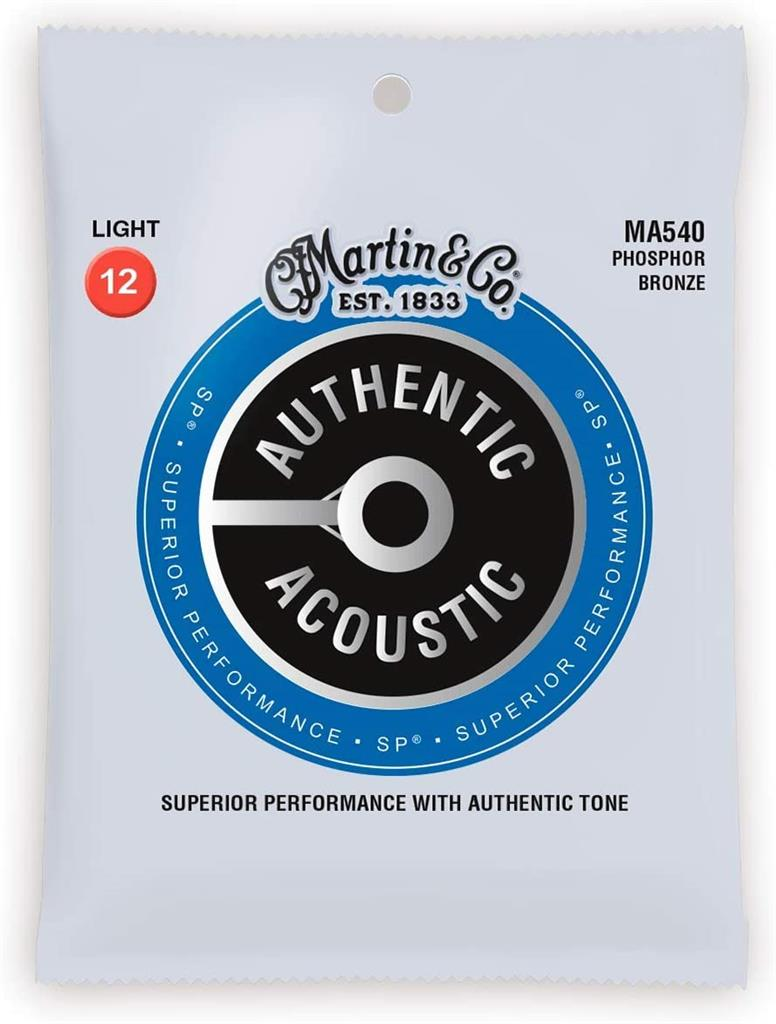 Martin cuerdas para Guitarra Acustica  Authentic, Light, 92/8