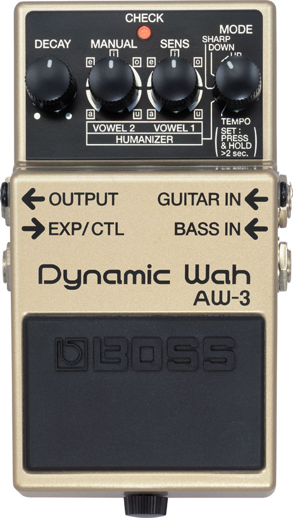 "Boss AW-3, Pedal compacto ""Dynamic Wah"" Waza Craft"