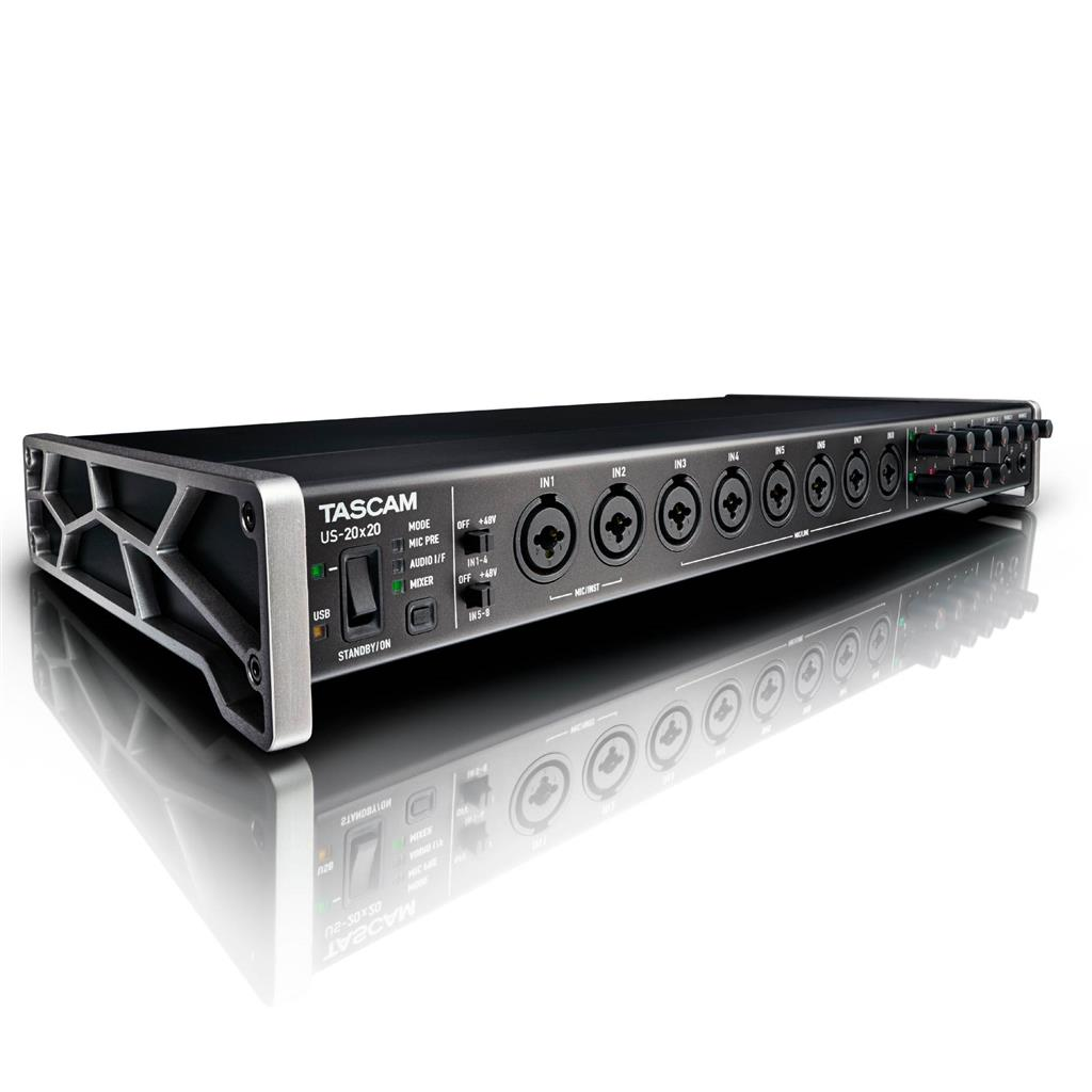 Tascam US-20x20, INTERFAZ 20X20, Canal USB Audio Interface