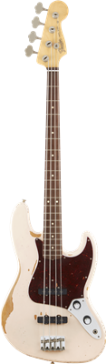 Fender Flea Jazz Bass, Roadworn Shell Pink, Bajo Eléctrico
