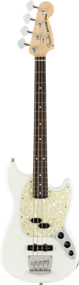 Fender American Performer Mustang Bass, Arctic White, Bajo Eléctrico