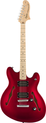 Squier Affinity Series Starcaster, Candy Apple Red, Guitarra Eléctrica