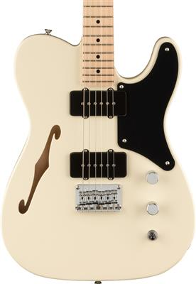 Squier Paranormal Carbronita Telecaster Thinline, Olympic White, Guitarra Eléctrica