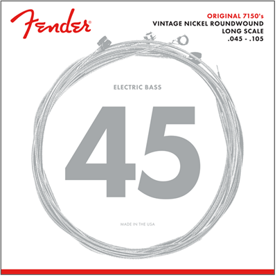 Fender Original 7150, Pure Nickel, Roundwound, Long Scale, 7150M .045-.105 Cuerdas para Bajo