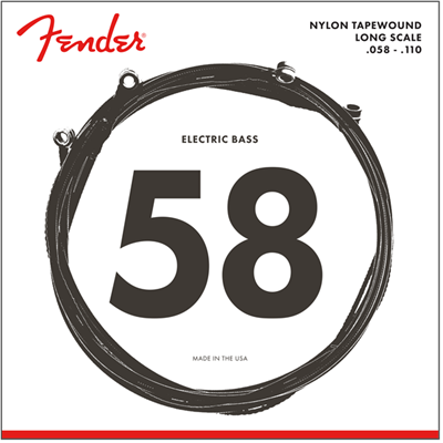 Fender 9120 Bass Strings, Nylon Tapewound, .058-.110 Gauge, (4) Cuerdas para Bajo