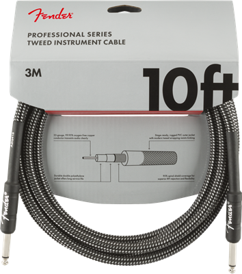 Fender Professional Series Instruments, Gray Tweed, Cable de 10'