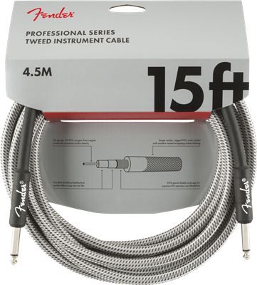 Fender Professional Series Instrument, White Tweed, Cable de 15'