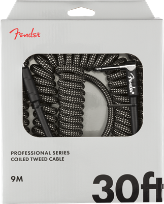 Fender Professional Coil, Gray Tweed, Cable de 30'