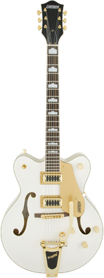 Gretsch G5422TG Electromatic Hollow Body Double-Cut con Bigsby, Snowcrest White, Guitarra Eléctrica