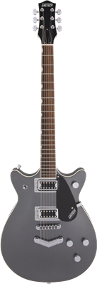 Gretsch G5222 Electromatic Double Jet BT con V-Stoptail, London Grey, Guitarra Eléctrica