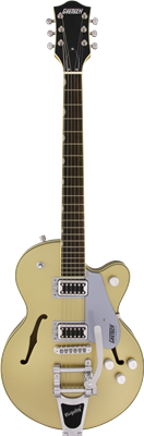 Gretsch G5655T Electromatic Center Block Jr. Single-Cut con Bigsby, Casino Gold, Guitarra Eléctrica