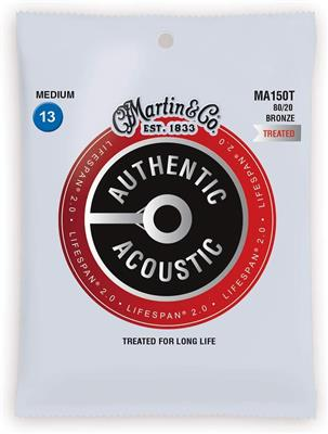 Martin cuerdas para Guitarra Acustica  Authentic Treated, Medium, 80/20