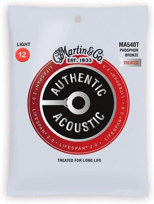 Martin cuerdas para Guitarra Acustica  Authentic Treated, Light, 92/8