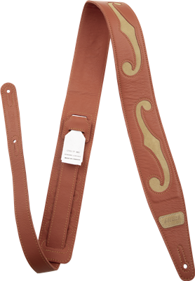 "Gretsch Gretsch F-Holes Leather Strap, Orange and Tan, 3"", Tahalí"
