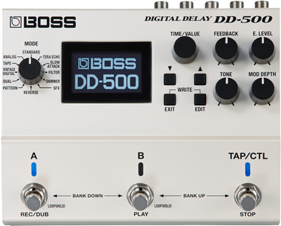 Boss DD-500, Pedal Digital Delay con pantalla LCD