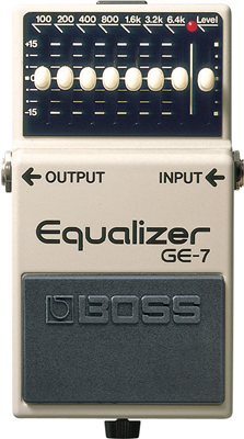 Boss GE-7, Pedal compacto Graphic Equalizer