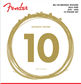 Fender 80/20 Bronze Acoustic Strings, Ball End, 70-12L .010-.050 Gauges (12) Cuerdas para acústica