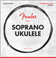 Fender Soprano Ukulele Strings, Set of Four, Cuerdas para Ukulele
