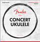 Fender Concert Ukulele Strings, Set of Four, Cuerdas para Ukulele